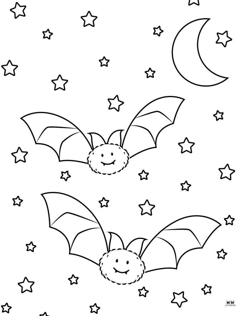 Printable Bat Coloring Page_Page 4