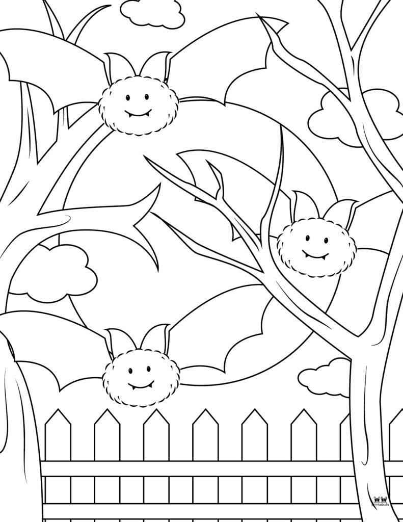 Printable Bat Coloring Page_Page 7