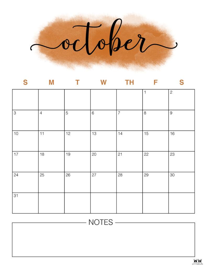 Printable October 2021 Calendar-Style 14
