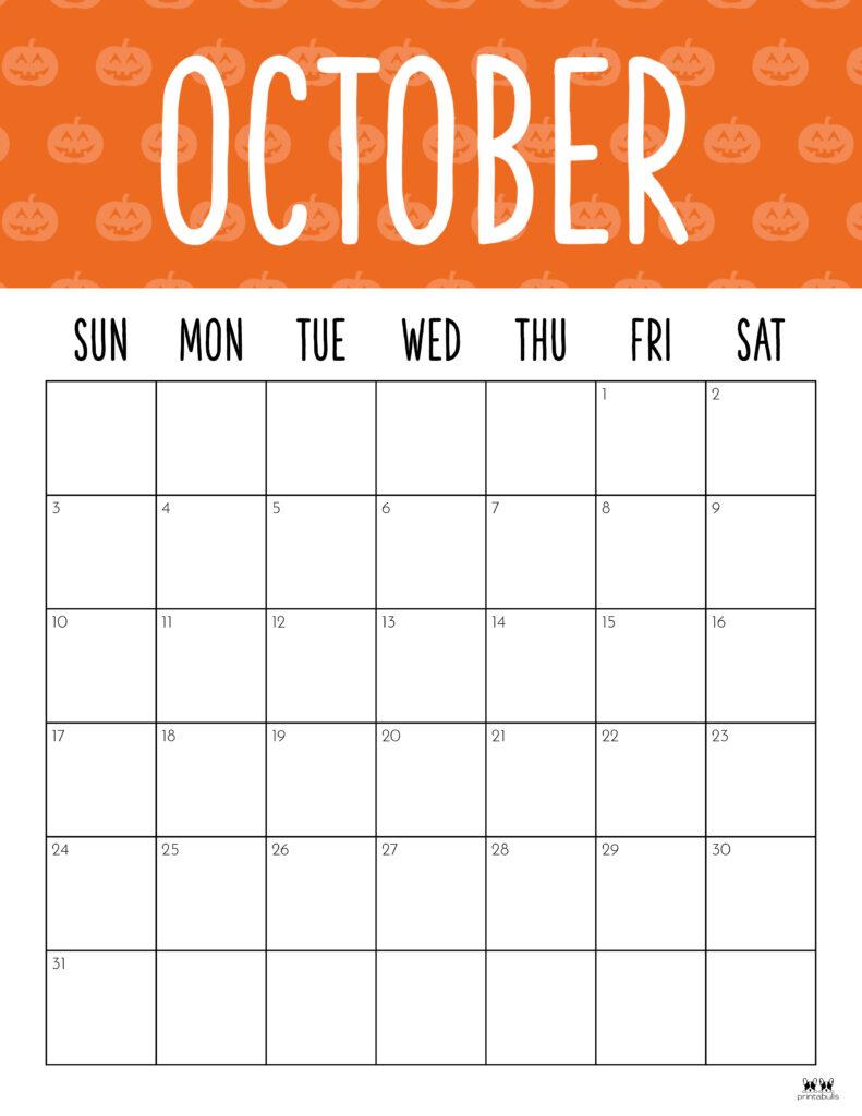 Printable October 2021 Calendar-Style 9