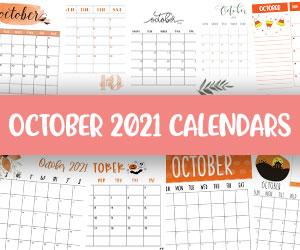 printable october 2021 calendars