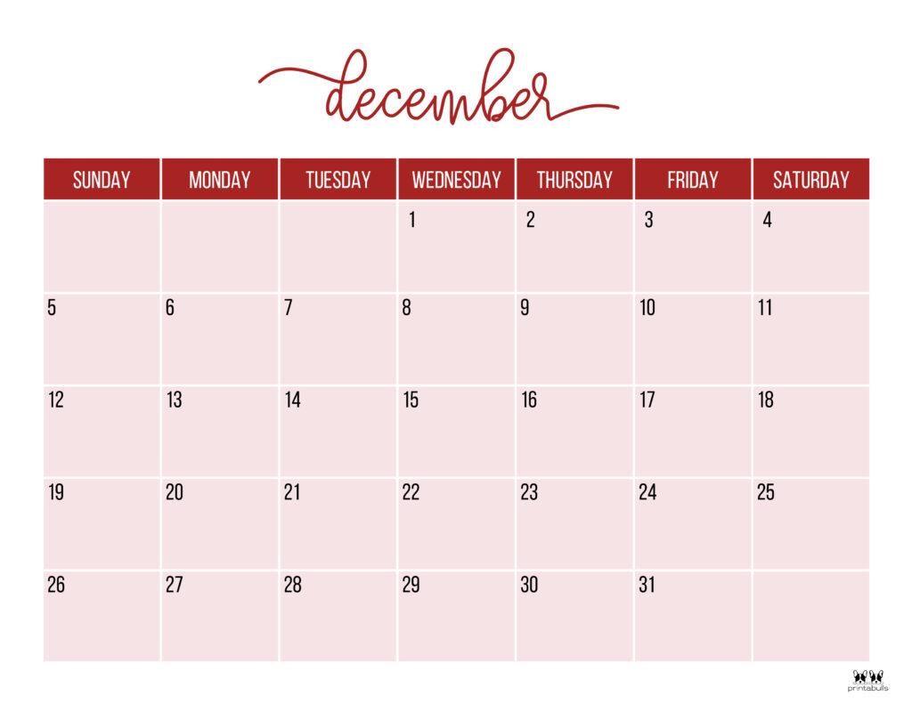 Printable December 2021 Calendar-Style 11