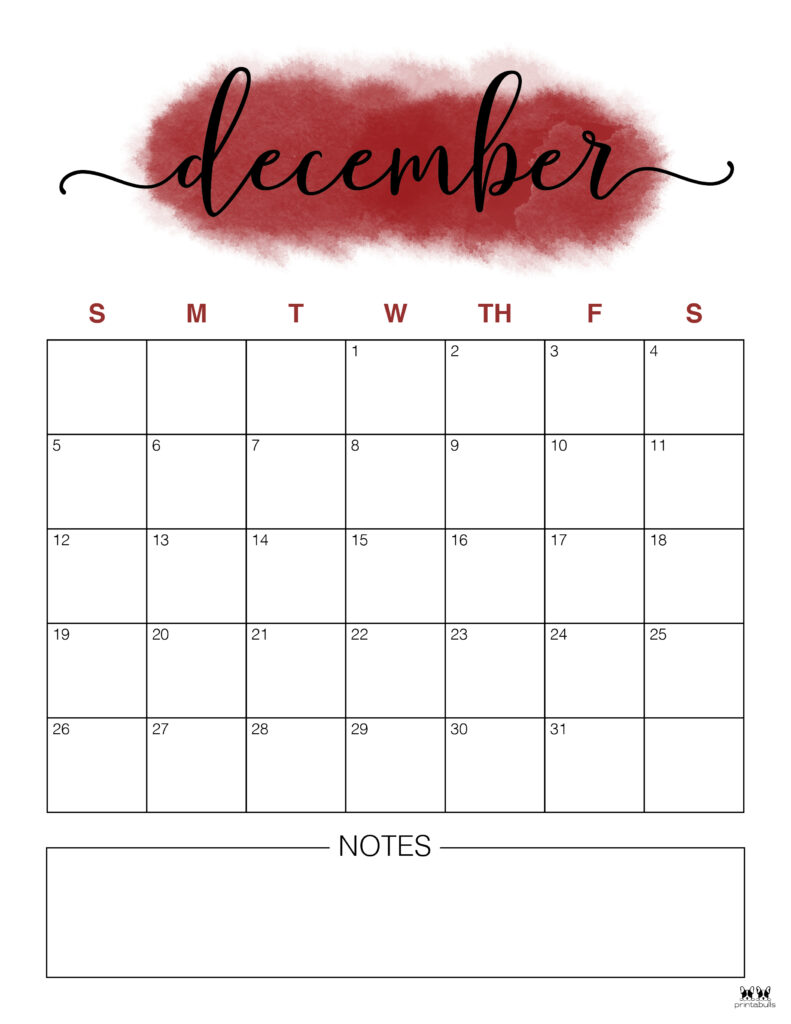 Printable December 2021 Calendar-Style 14