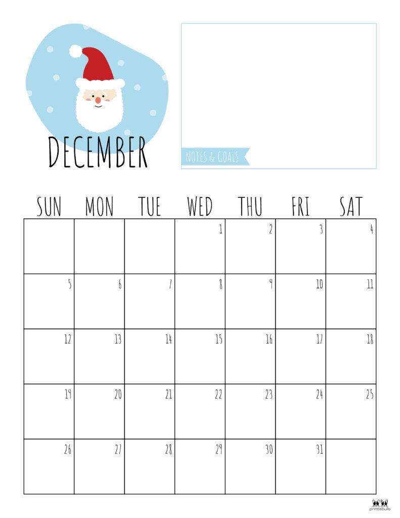 Printable December 2021 Calendar-Style 8