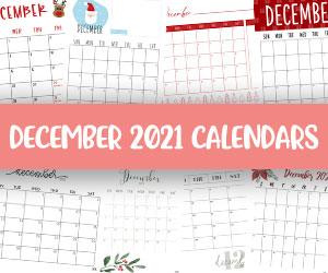 printable december 2021 calendars