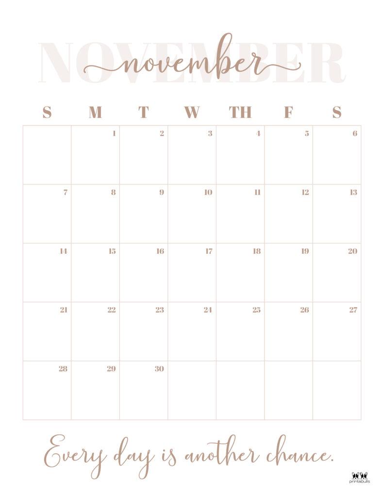 Printable November 2021 Calendar-Style 13