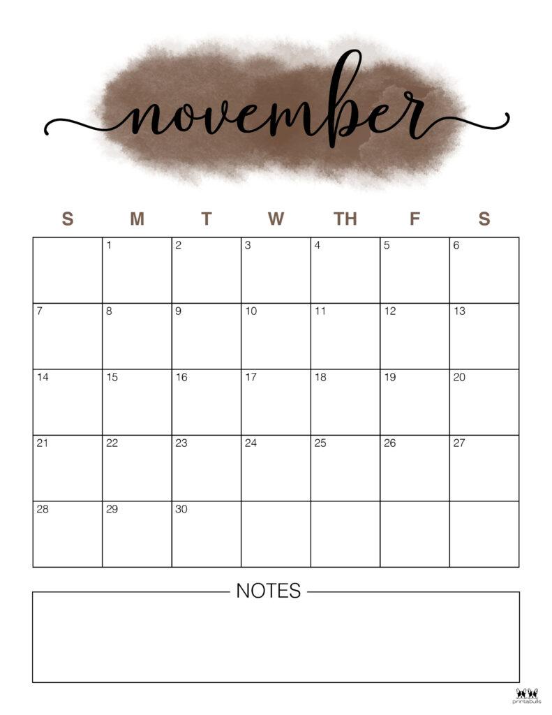 Printable November 2021 Calendar-Style 14
