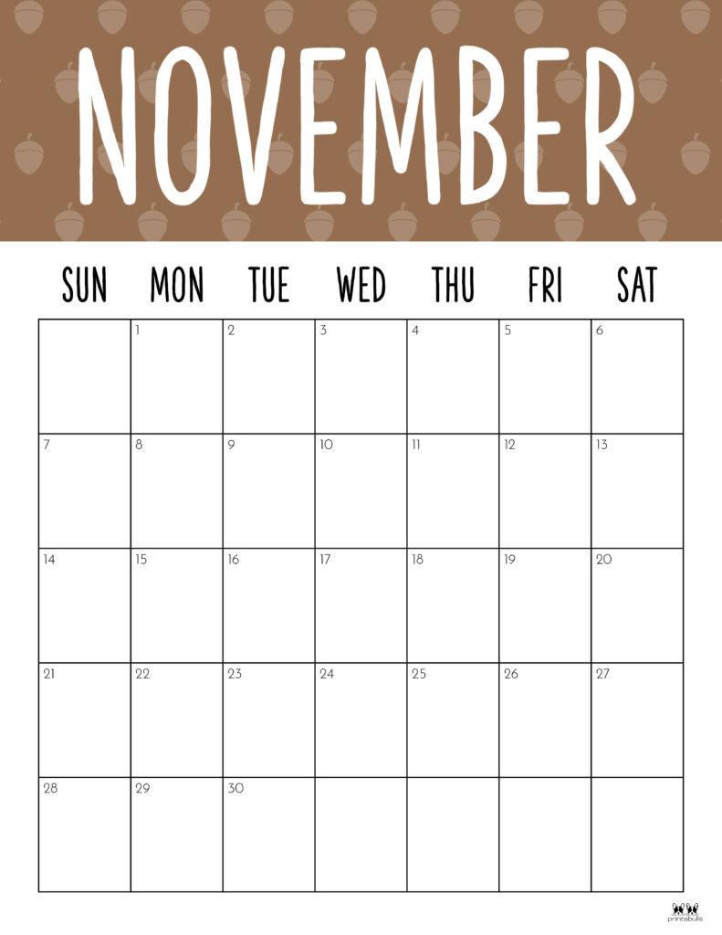Printable November 2021 Calendar-Style 9