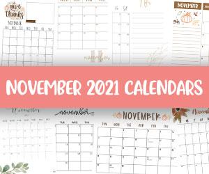 printable november 2021 calendars